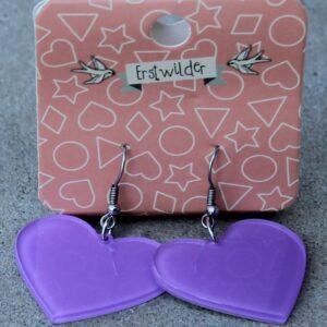 Erstwilder Earrings – Heart Purple