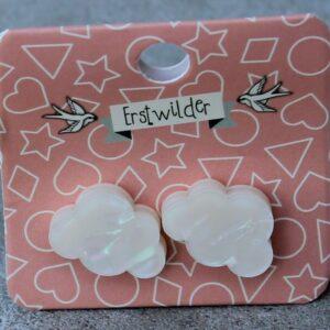 Erstwilder Stud Earrings – Cloud Pearly White