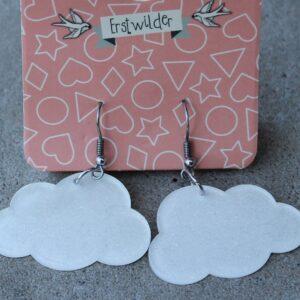 Erstwilder Earrings – Cloud White Sparkle