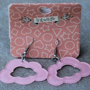 Erstwilder Earrings – Cloud Cut Out Pink Sparkle