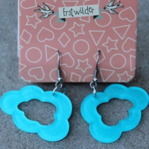 Erstwilder Earrings – Cloud Cut Out Blue Sparkle