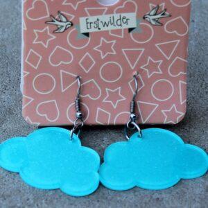 Erstwilder Earrings – Cloud Blue Sparkle