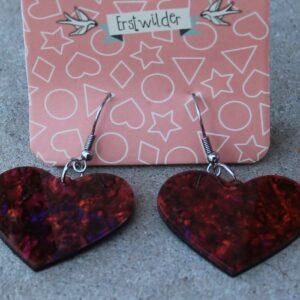 Erstwilder Earrings – Heart Deep Reds