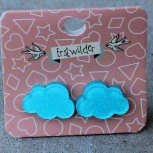 Erstwilder Stud Earrings – Cloud Blue Sparkle