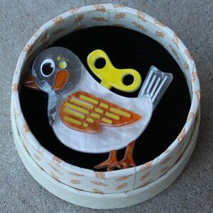 Erstwilder Mini Brooch – Wind-Up Whimsy (Bird)