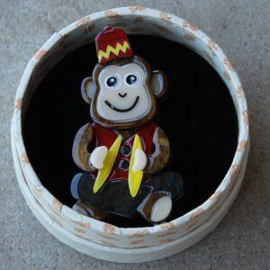 Erstwilder Mini Brooch – Charlie Chimp