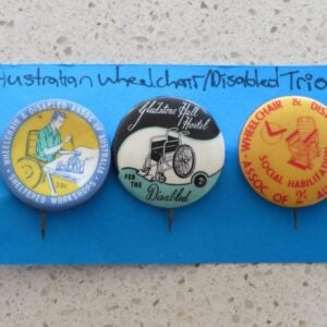Australian Wheelchair Badge Trio