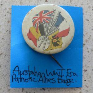 WWI Patriotic Allies Badge