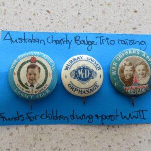 Australian Charity Badge Trio