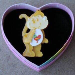 Erstwilder Brooch – Playful Heart Monkey