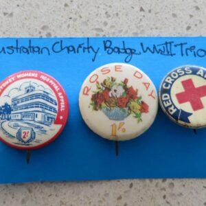 Australian Charity Badge WWII Trio