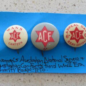 Australian Comforts Charity Badge Trio