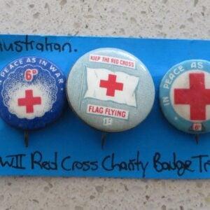 Australian Red Cross Charity Badge Trio