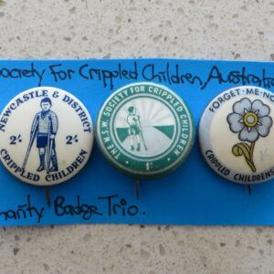 Society for Crippled Children Australia Badge Trio