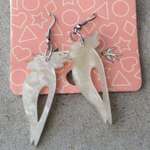 Erstwilder Earrings – Cockatoo (Peal Sparkle)