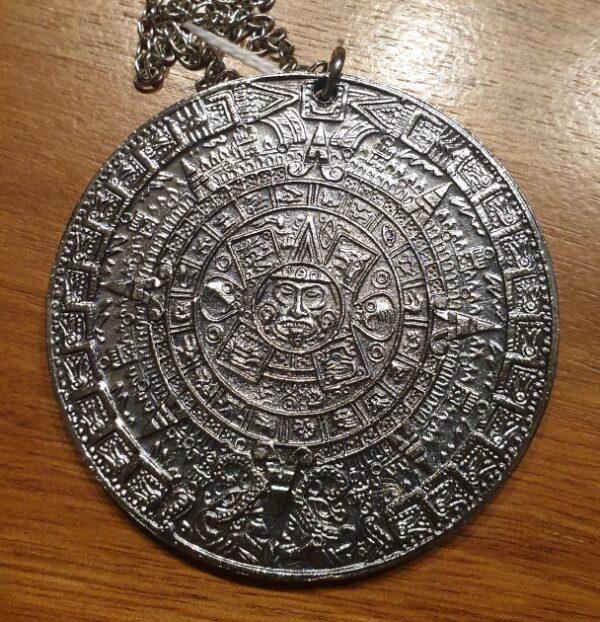 morpeth antique centre hunter valley aztec calendar sun stone mexico pendant necklace chain medallion disc