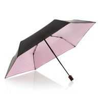 Umbrella Knirps Duomatic – Black with Pink Underside