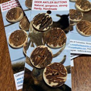 Deer Antler Buttons x 4 (code 027)