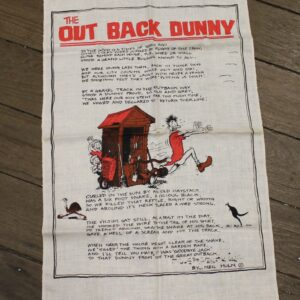 Teatowel – Outback Dunny, Australia