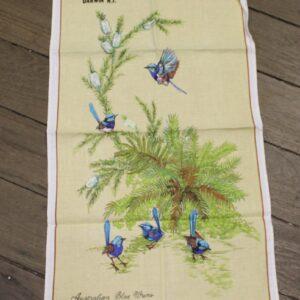 Teatowel – Darwin, NT (Blue Wrens)