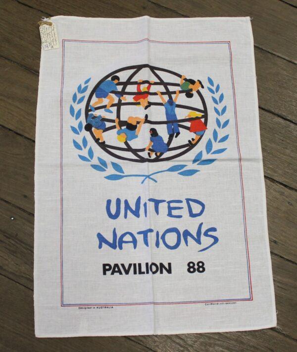 Teatowel - United Nations Pavillion, Expo '88, QLD -