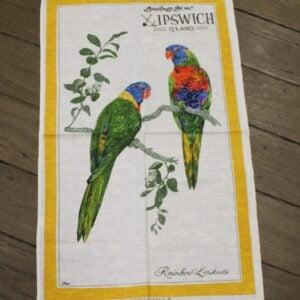 Teatowel – Ipswich, QLD (Rainbow Lorikeets)
