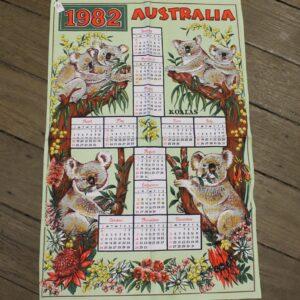 Teatowel – Australia 1982 Calander