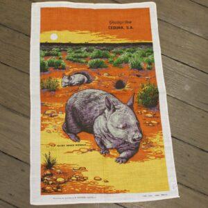 Teatowel – Ceduna, South Australia (Wombat)