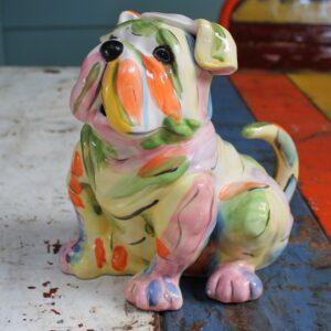 Rainbow Bulldog Teapot