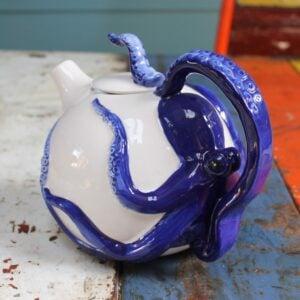 Blue Octopus Teapot