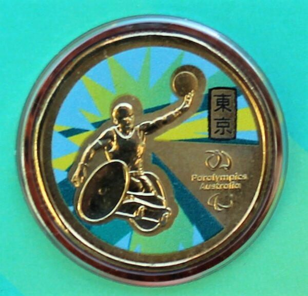 morpeth antique centre hunter valley tokyo olympics 2020 2021 australian wheelchair rugby paralympic one dollar colour coin chris bond