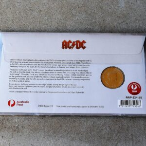 AC/DC Twenty Cent Coin & Stamp Cover – Back in Black