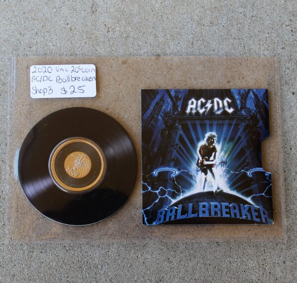 morpeth antique centre hunter valley acdc one dollar silver frosted coin limited edition highway to hell dirty deads tnt dynamite rock aussie australian band rock back in black ballbreaker