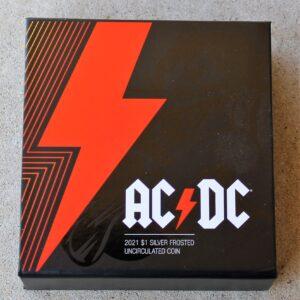 AC/DC One Dollar Silver Coin 2021