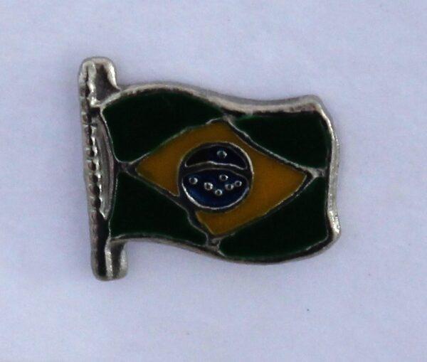 morpeth antique centre hunter valley brazil flag south america badge pin