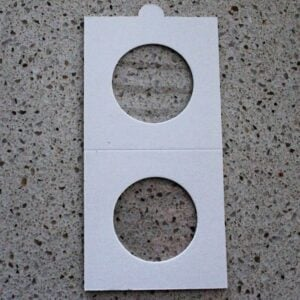 Self Adhesive Coin Mounts – 27mm for One Dollar & Half Penny