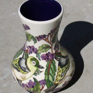 Moorcroft Vase – Silver Eye