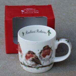 Wrendale Mug – Rockin' Robins