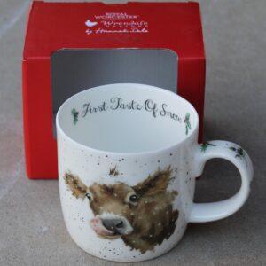 Wrendale Mug – First Taste of Snow (Cow)