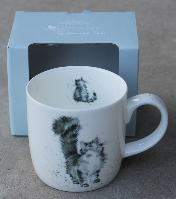 morpeth gift gallery hunter valley wrendale mug royal worcester fine bone china porcelain england india lady of the house cat Christmas