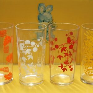 Leaves & Berries Glass Set of Four