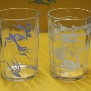 Swallow & Swan Glass Set of Two
