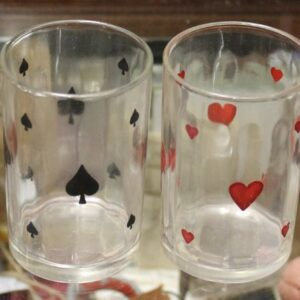 Playing Card Suits Glass Set of Four