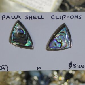 Clip On Earrings – Paua Shell