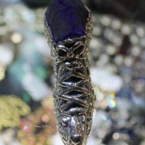 Silver Shoe Pincushion