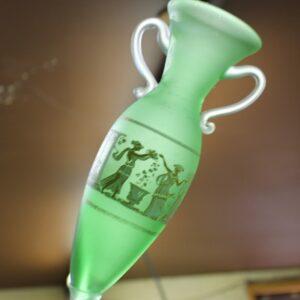 Glass Vase with Greek Motif