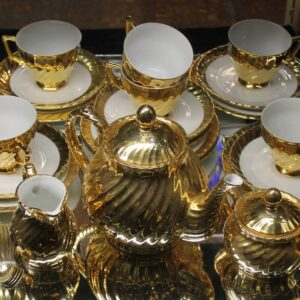 Gold Plated Teaset – 21 pieces
