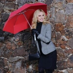Knirps Umbrella with Case Red