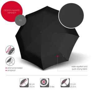 Knirps Umbrella with Case Black