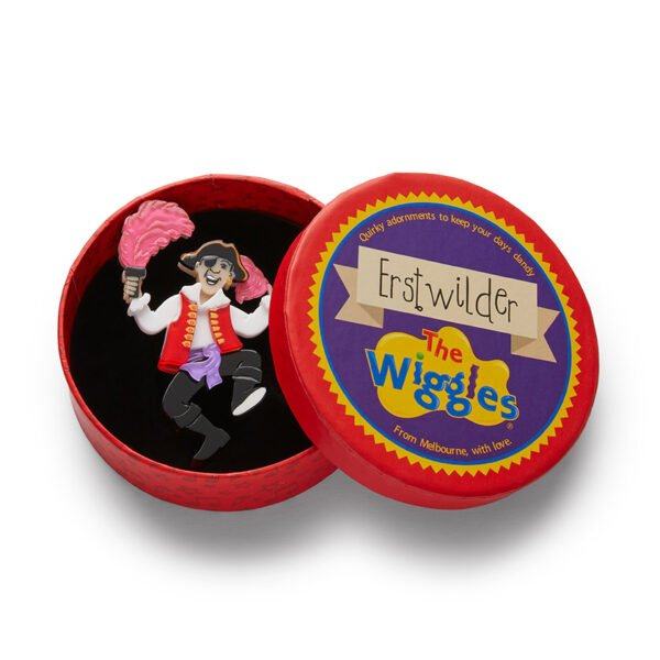 morpeth antique centre hunter valley erstwilder wiggles 30th anniversary birthday fruit salad necklace brooch enamel pin captain feathersword
